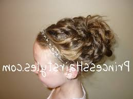 hairstyle for flower girls cute chain updo princess hairstyle cute