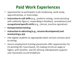 Job Shadowing Resume by Idaho Transition Cadre Hailey Id October 2 Ppt Download