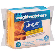 weight watchers singles reduced fat american cheese 16 ct pack