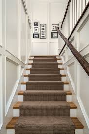 carpeting stairs staircase traditional with black and white