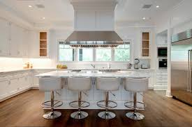 kitchen island chairs with backs island with white leather barrel back counter stools throughout