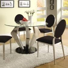 Glass Topped Dining Table And Chairs Round Glass Top Dining Sets Foter