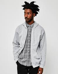 classic clothing the idle classic zip through hoodie grey at the idle
