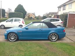 e46 bmw e46 m3 convertible laguna seca blue low mileage smg ii