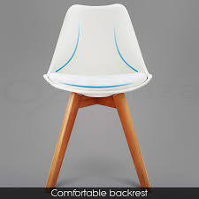 6 x padded retro replica eames eiffel dsw dining chairs cafe
