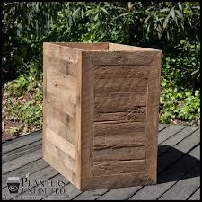 recycled wood planters reclaimed wood planters barn wood planters