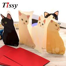 aliexpress com buy high quality 1pc cute cat folding greeting