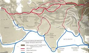 map of the road maps of central asia the silk road