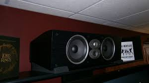 home theater center speaker center channel speaker placement on my stand with pictures please
