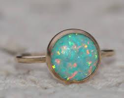 genuine opal ring etsy