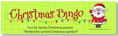 christmas bingo a fun game for your christmas party kids and