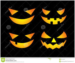 free halloween orange background pumpkin halloween scary pumpkin face vector illustration set jack o