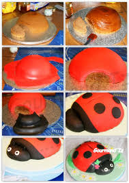 step by step ladybug sculpted cake tutorials pinterest