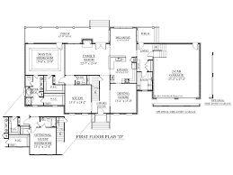 5 Bedroom Floor Plans 1 Story by House Plan Modern 2 Story 2282 Sq Ft 4 Bed 5 Bath 1 Car Loversiq
