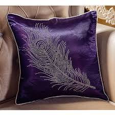 Decorative Pillows Modern Rhinestones Feather Throw Pillows For Couch Modern Minimalist