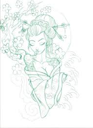 geisha design tattoos geisha and drawings
