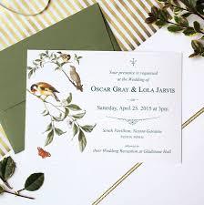 bird wedding invitations garden bird wedding invitation suite by vanilla retro stationery