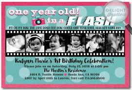 one year in a flash 1st birthday party invitation di 256