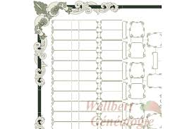 blank family tree chart 7 generations bow tie printable empty to
