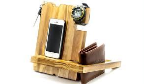 wood docking stationcharging station organizerhusband