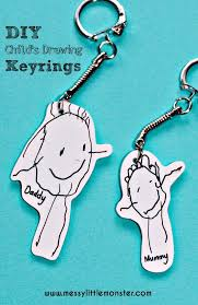 shrinky dinks keyring children s keepsakes and drawings