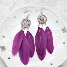 feather earrings s feather earrings sunflowers enamel feather earrings bohemian