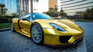 porsche 918 wallpaper gold porsche 918 spyder in the parking wallpaper download 3840x2160