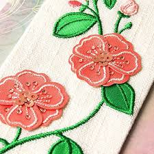 mothers day card embroidery flower bookmark by papyrus greetings