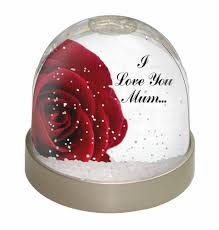 red rose u0027i love you mum u0027 snow dome globe waterball animal