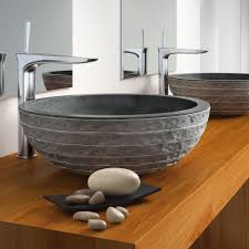 black stone bathroom sink designer stone sink