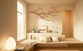 sakura trees wallpaper natural eclectric beige wall paint color