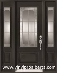 All Glass Doors Exterior Cheap Entry Doors With Side Lights Steel Entry Door With 2