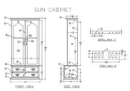 free gun cabinet plans with dimensions plans for gun cabinets free woodworking plans and projects
