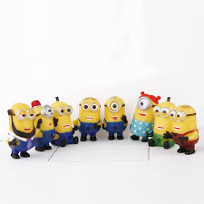 8pcs lot 4 6cm toys despicable me minions ornament