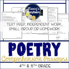 reading comprehension questions 4th grade poetry reading comprehension passages with questions 4th grade and 5th