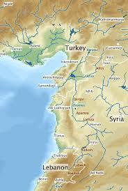 Map Of Rivers Orontes Fluss U2013 Wikipedia