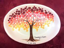 wedding guest book platter signature platter makes unique wedding guest books tree leaves