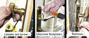 Baldwin Exterior Door Hardware Baldwin Door Knob Removal Door Hardware Removal Process Baldwin