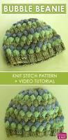 Christmas Tree Hat Knitting Pattern Bubble Beanie Hat Knitting Pattern With Video Tutorial Studio Knit