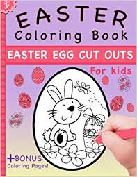 easter coloring book easter egg cut outs kids coloring