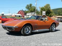 corvette stingray 71 1971 ontario orange corvette stingray 4spd deluxe saddle int
