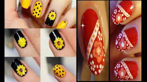 easy nails art design simple flower nail art for beginners youtube