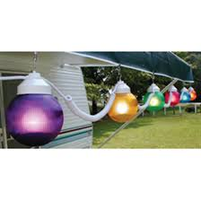 Outdoor Bulb Lights String by Polymer Products 110v Multicolored String Globe Lights 6 Pk