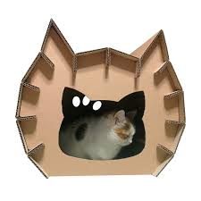 meow cardboard house cat furniture cat toy cat bed cat