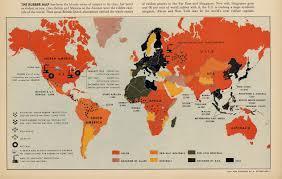 World Map 1940 by Fortune Magazine Maps Antonio Petruccelli