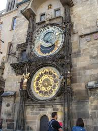 prague old town astronomical clock close up the lady travels