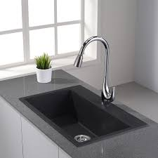 kraus single handle high arch kitchen faucet with pull down dual