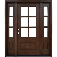 home depot doors interior pre hung steves u0026 sons 64 in x 80 in savannah 6 lite stained mahogany