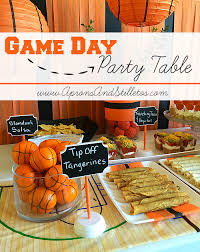 Table Basketball Game Day Basketball Party Table U2013 Aprons And Stilletos