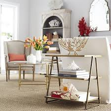 White Side Tables For Living Room Adley Gold And White Side Table